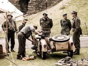 Dover Castle - Soldiers Repairing Bike