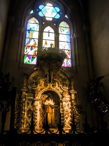 Shrine inside Madrid Cathedral