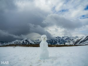 Snowman at the Summit: Whistlers Mountain