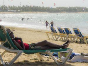 Relaxing on Cabarete Beach